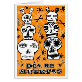 Dia de Muertos Tarjeta De Felicitación