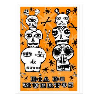 Dia de Muertos Tarjetas Postales