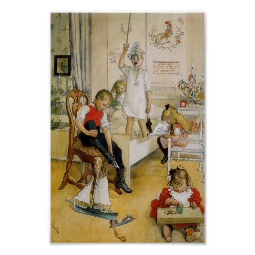 Día de navidad en el cuarto de niños 1894 posters