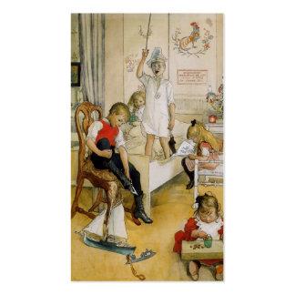 Día de navidad en el cuarto de niños 1894 tarjeta de visita