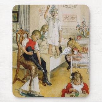 Día de navidad en el cuarto de niños tapetes de raton
