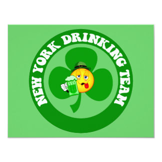 Día de Nueva York St Patrick divertido Invitación Personalizada