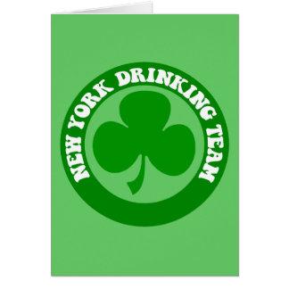 Día de Nueva York St Patrick divertido Felicitacion