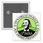 Día de Obama St Patrick Pin