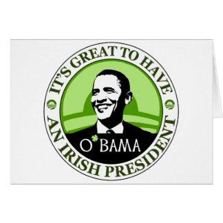 Día de Obama St Patrick Tarjetón