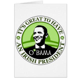 Día de Obama St Patrick Felicitación
