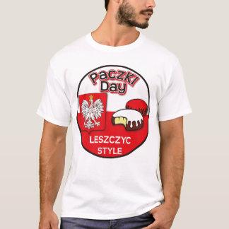 Día de Paczki - estilo de Leszczyc Playera