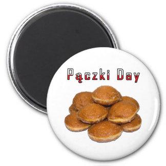 Día de Paczki Imán De Frigorifico