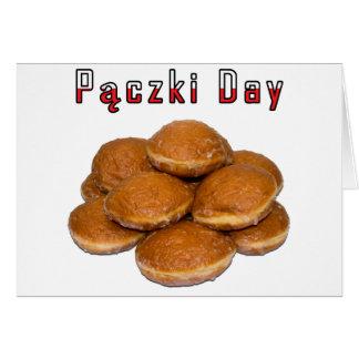Día de Paczki Felicitaciones