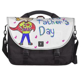 día de padre del bolso tan lindo bolsa de ordenador