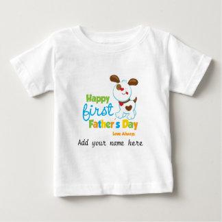 Día de padre feliz del perro de perrito el primer t shirt