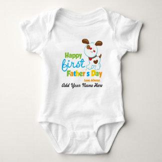 Día de padre feliz del perro de perrito el primer tee shirts