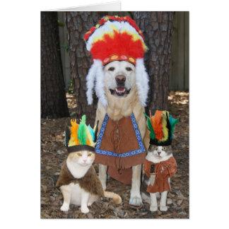 Día de padre grande de los mascotas divertidos el tarjeton