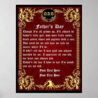 """Día de padres 40"""""""" visión x53 sobre diseño póster"""