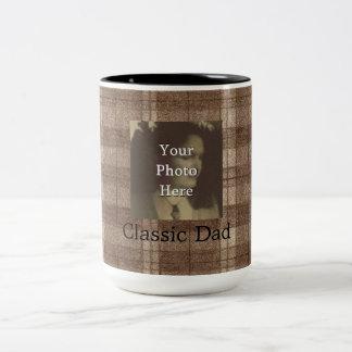 Día de padres adaptable de la foto de la tela taza de dos tonos