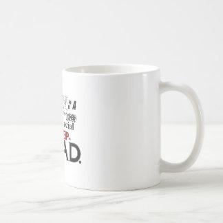 Día de padres de la cita del papá del paso tazas de café