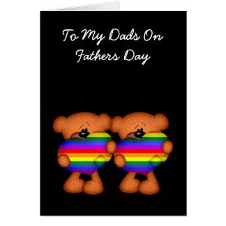 Día de padres del oso de peluche del corazón del tarjeta de felicitación