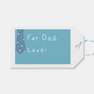 Día de padres divertido feliz con la corbata etiquetas para regalos