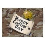Día de padres feliz a mi papá #1 tarjeta de felicitación