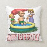 Día de padres feliz almohada