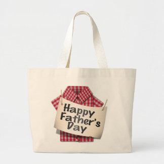 ¡Día de padres feliz! Bolsa Tela Grande