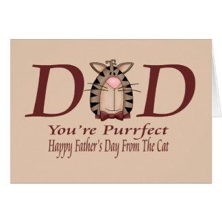 Día de padres feliz del gato tarjeta de felicitación