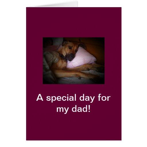 día de padres feliz del perro tarjeta pequeña