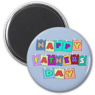 Día de padres feliz imán redondo 5 cm