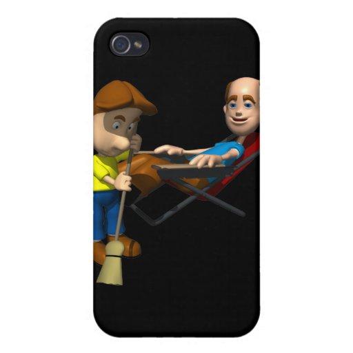 Día de padres feliz iPhone 4 carcasas