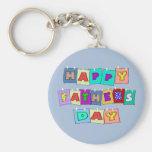 Día de padres feliz llaveros personalizados