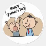 Día de padres feliz pegatinas redondas