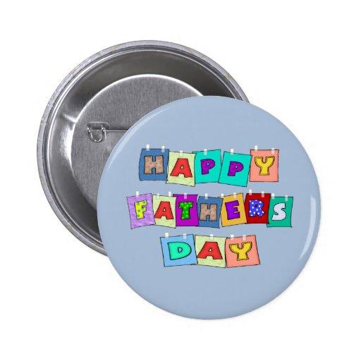 Día de padres feliz pin redondo 5 cm