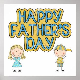 Día de padres feliz póster