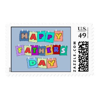 Día de padres feliz sellos postales