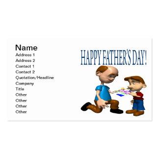 Día de padres feliz tarjetas de visita