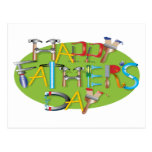Día de padres feliz tarjeta postal