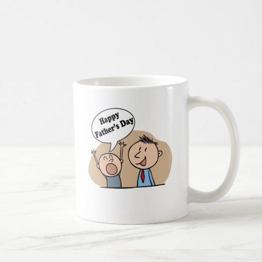 Día de padres feliz tazas