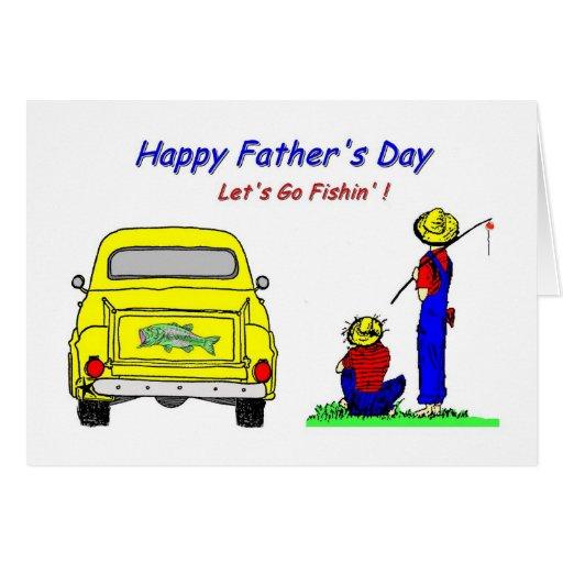 Día de padres Fishin Tarjeta De Felicitación