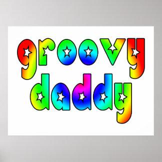 Día de padres fresco y papá maravilloso de los póster