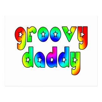 Día de padres fresco y papá maravilloso de los postal