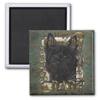 Día de padres - mojón Terrier - Rosco Imán Cuadrado