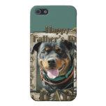 Día de padres - papá de piedra de Rottweiler Samba iPhone 5 Protector
