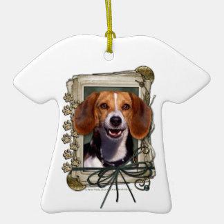 Día de padres - patas de piedra - beagle