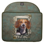 Día de padres - patas de piedra - beagle fundas para macbooks
