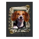 Día de padres - patas de piedra - beagle postal