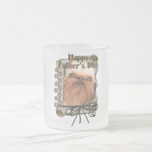 Día de padres - patas de piedra - Bruselas Griffon Tazas