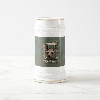 Día de padres - patas de piedra - canguro taza de café