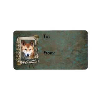 Día de padres - patas de piedra - Dingo Etiqueta De Dirección