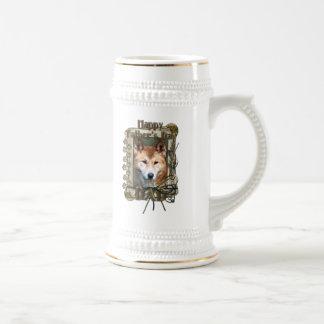 Día de padres - patas de piedra - Dingo Taza De Café