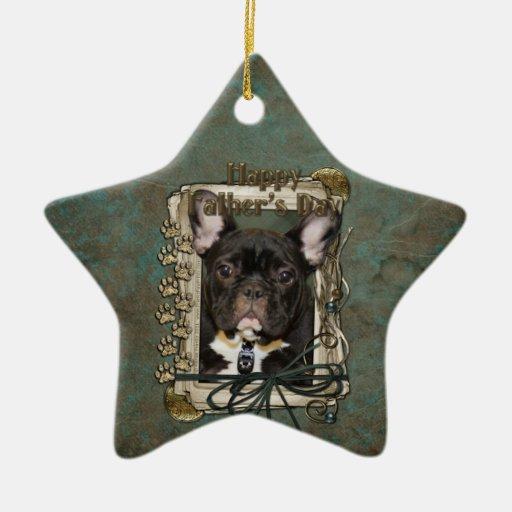 Día de padres - patas de piedra - dogo francés - t ornamentos de reyes magos